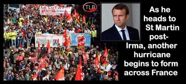 MacronProtestsIrma