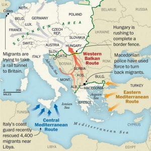 MigrantrouteBalkan